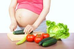 Embarazo y nutrición Imágenes de archivo libres de regalías