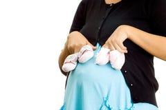 Embarazo y pregunta del género del bebé imagen de archivo libre de regalías
