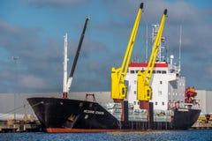 Embarcação de carga do russo Fotografia de Stock Royalty Free