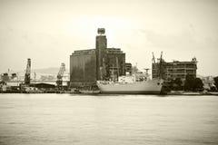 Embarcação de carga do vintage imagens de stock