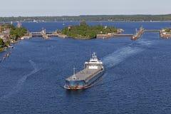Embarcação de carga no canal de Kiel Fotografia de Stock Royalty Free