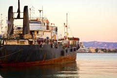 Embarcação de carga velha foto de stock royalty free