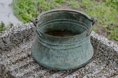 Embarcação de cobre do agregado familiar Foto de Stock Royalty Free