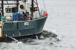 Embarcação de pesca G loquaz no rio de Acushnet Fotografia de Stock