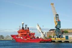 Embarcação de sustentação do mergulho Fotografia de Stock Royalty Free