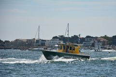Embarcação EEMSLIFT HENDRIKA que entra no porto de Poole foto de stock