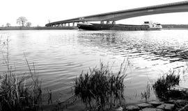 Embarcação interna em preto e branco Imagens de Stock