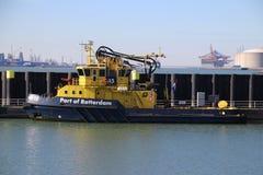 embarcação piloto do navio e da autoridade portuária no porto de Rotterdam, fotos de stock