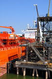 Embarcação química entrada do petroleiro Foto de Stock