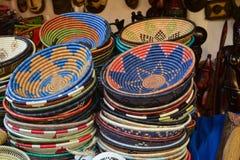 Embarcações africanas velhas do agregado familiar - coloridas Imagem de Stock