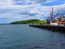 Embarcações entradas no cais Foto de Stock