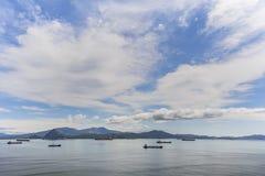 Embarcações na âncora Foto de Stock Royalty Free