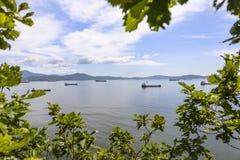 Embarcações na âncora Foto de Stock