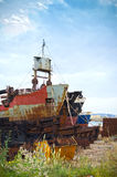 Embarcações velhas foto de stock
