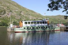 Embarcación de recreo de Ullswater Fotos de archivo libres de regalías
