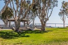 Embarcadero公园的亭子南在圣地亚哥 库存图片