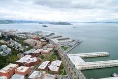 Embarcadero在旧金山 旧金山港的东部江边  免版税图库摄影