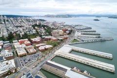 Embarcadero在旧金山 旧金山港的东部江边  库存照片