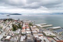 Embarcadero在旧金山 旧金山港的东部江边  免版税库存照片