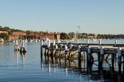 Embarcadero al mar Sydney Australia Fotografía de archivo libre de regalías