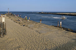 Embarcadero Avon de la pesca por el mar Foto de archivo libre de regalías