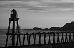 Embarcadero blanco y negro fotos de archivo libres de regalías