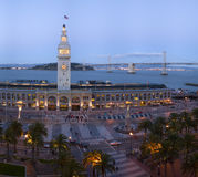 Embarcadero Building, at dusk. Various stiched images big file Stock Photo