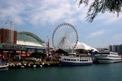 Embarcadero Chicago de la marina Imagenes de archivo