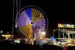 Embarcadero de acero - Atlantic City, New Jersey (noche) Foto de archivo libre de regalías
