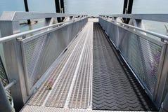 Embarcadero de aluminio Foto de archivo libre de regalías