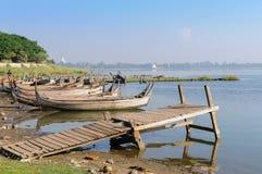 Embarcadero de Amarapura Imagen de archivo