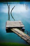 Embarcadero de bambú Fotografía de archivo libre de regalías