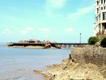 Embarcadero de Birnbeck, Weston-Estupendo-yegua. Imagen de archivo