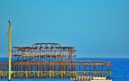 Embarcadero de Brighton en verano Fotos de archivo