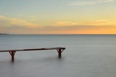 Embarcadero de Formentera sobre el mar Imágenes de archivo libres de regalías