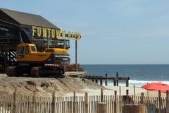 Embarcadero de Funtown, alturas de la playa, NJ imagenes de archivo