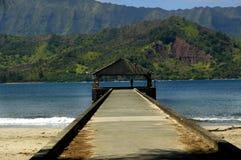 Embarcadero de Hanalei en Kauai, Hawaii Foto de archivo