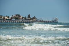 Embarcadero de Huanchaco Foto de archivo
