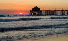 Embarcadero de Huntington Beach Imágenes de archivo libres de regalías