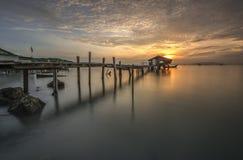 Embarcadero de Jelutong Fotos de archivo libres de regalías