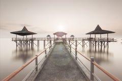 Embarcadero de Kenjeran Imagenes de archivo