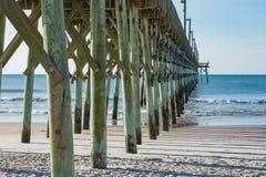 Embarcadero de la ciudad de la resaca en Carolina del Norte Imágenes de archivo libres de regalías