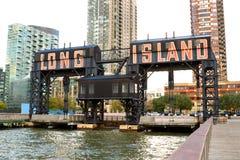 Embarcadero de la ciudad del Long Island, Nueva York Imágenes de archivo libres de regalías