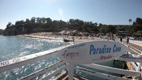 Embarcadero de la ensenada de Paradise metrajes
