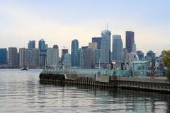 Embarcadero de la isla de la sala, Toronto fotografía de archivo