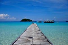 Embarcadero de la isla de Redang Fotografía de archivo