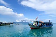 Embarcadero de la isla de Sebesi Foto de archivo
