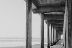 Embarcadero de La Jolla fotografía de archivo