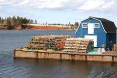 Embarcadero de la langosta Fotografía de archivo libre de regalías