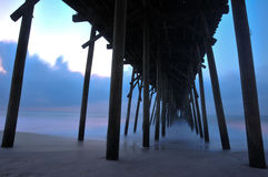 Embarcadero de la madrugada Imagen de archivo libre de regalías